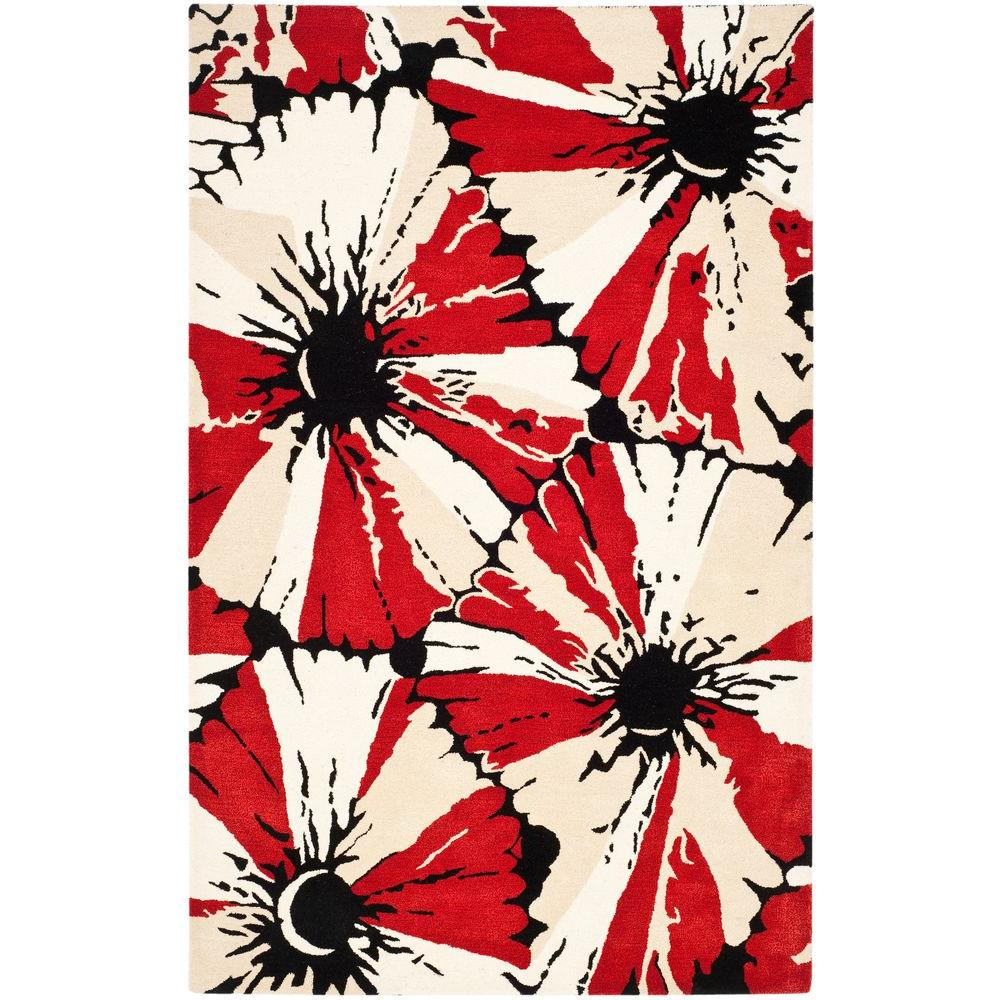 Safavieh Soho Black Red 8 Ft X 10 Area Rug