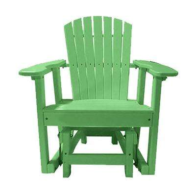 31.5 in. 1-Person Lime Green Recycled Poly-Lumber Outdoor Glider