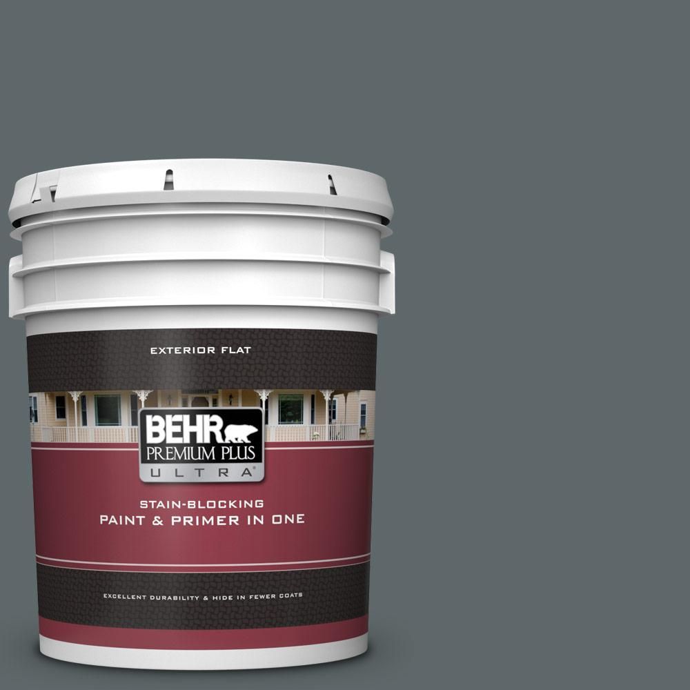 newest collection 6fbbb 12c87 BEHR Premium Plus Ultra 5 gal.  730F-6 Amphibian Flat Exterior Paint and