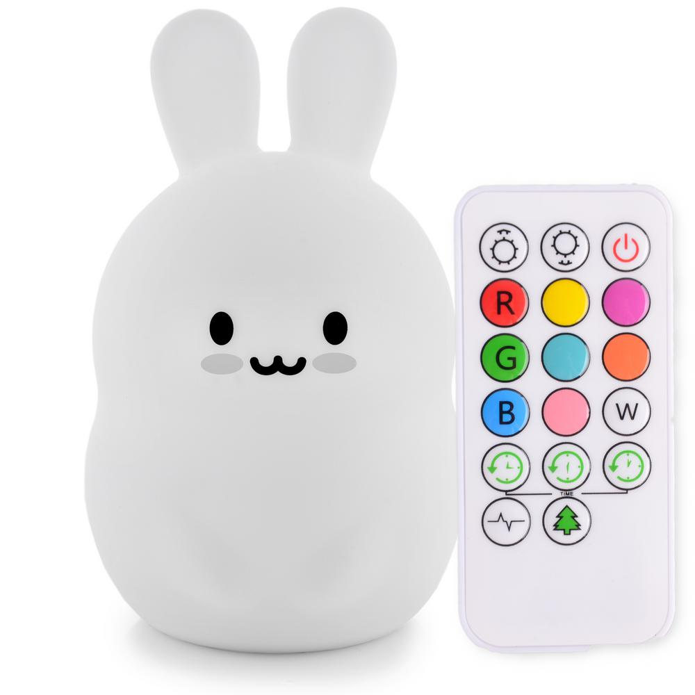 Lumipets Silicone Tap Sensor Led Night Light Bunny Remote The