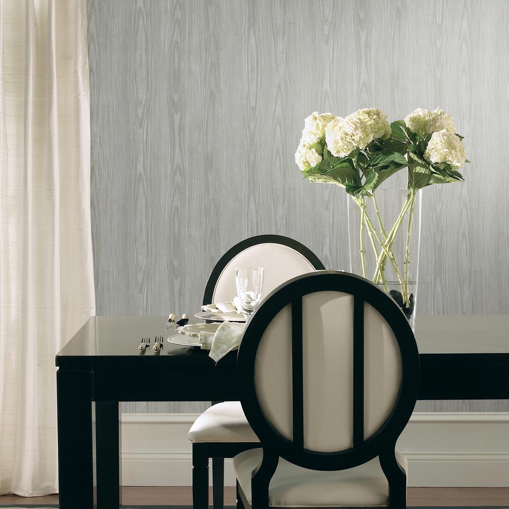Grey Tanice Faux Wood Texture Wallpaper Sample
