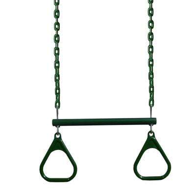 Green 17 in. Trapeze Bar with Green Rings