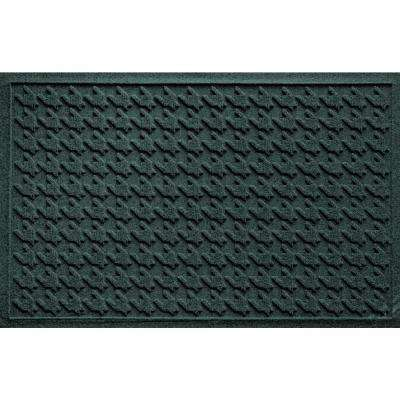Houndstooth Evergreen 24 In. X 36 In. Polyproplene Door Mat