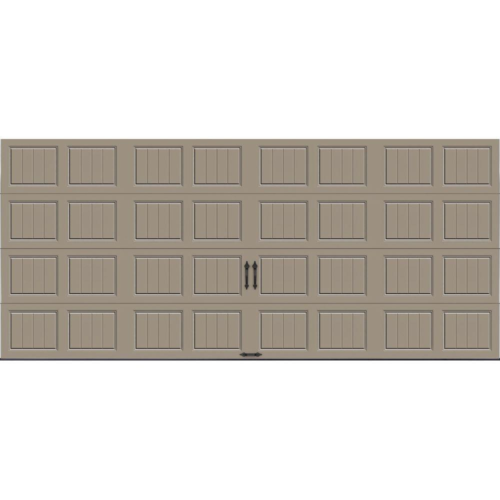 Clopay gallery collection 16 ft x 7 ft 18 4 r value for Highest r value garage door