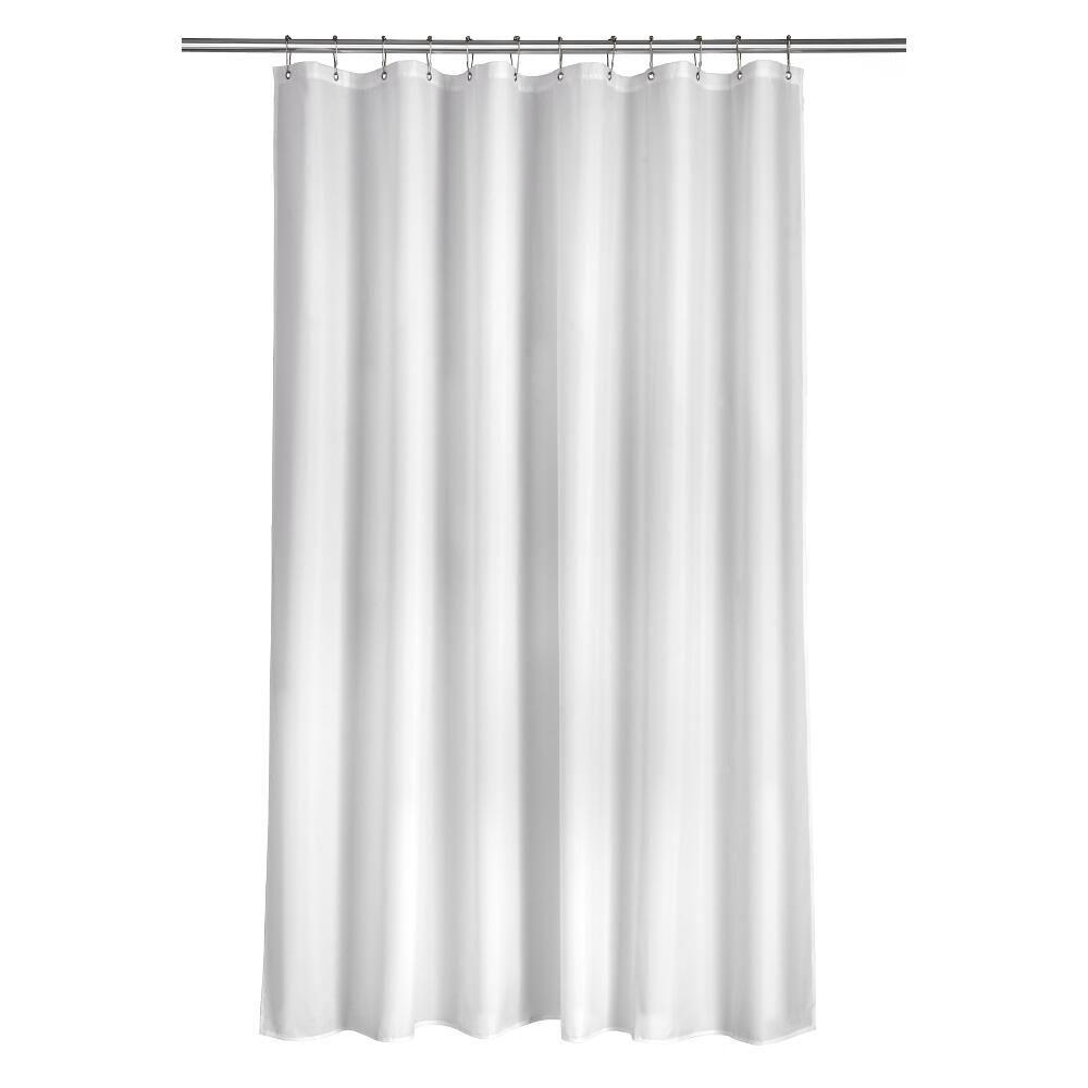 Croydex Shower Curtain In Plain White AF159022YW