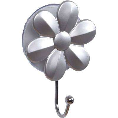 2.75 in. L x 3.93 in. H Silver Suction Mounted Flower Hanger Hook Eve