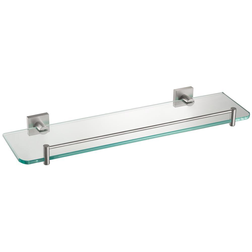 Ventus 20 in. Bathroom Shelf in Brushed Nickel
