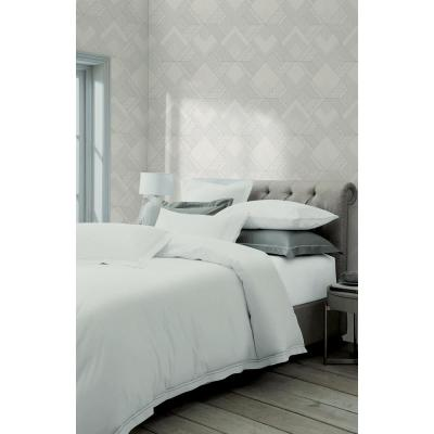 Castle White Geometric Wallpaper Sample