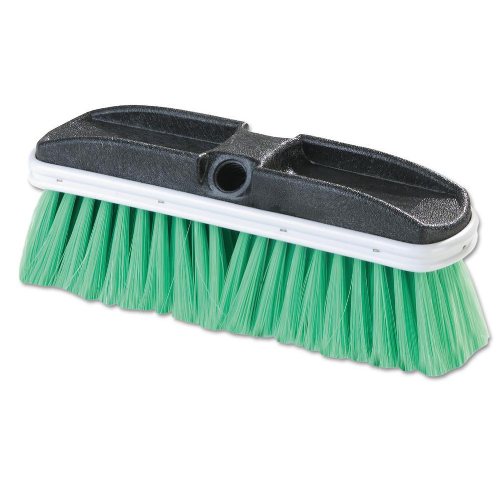 Vehicle 10 in. Nylex Scrub Brush, Green 2.5 in. Bristles