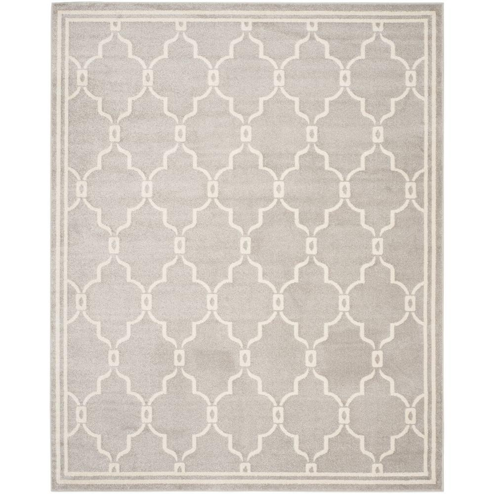Safavieh Amherst Light Gray/Ivory 6 ft. x 9 ft. Indoor/Outdoor ...