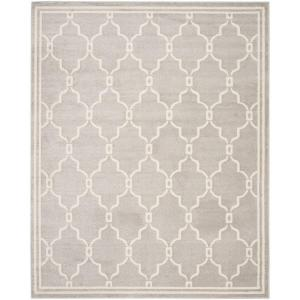 Amherst Light Gray/Ivory 6 ft. x 9 ft. Indoor/Outdoor Area Rug