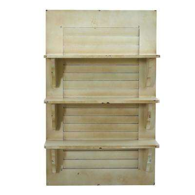 19.75 in. W x 7.5 in. D Vintage Window Shutter Shelving Wall Decor
