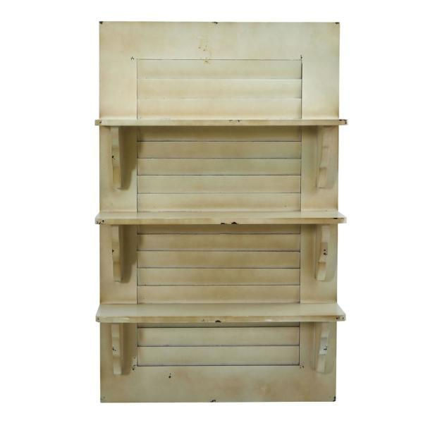 Nearly Natural 19.75 in. W x 7.5 in. D Vintage Window Shutter Shelving Wall Decor