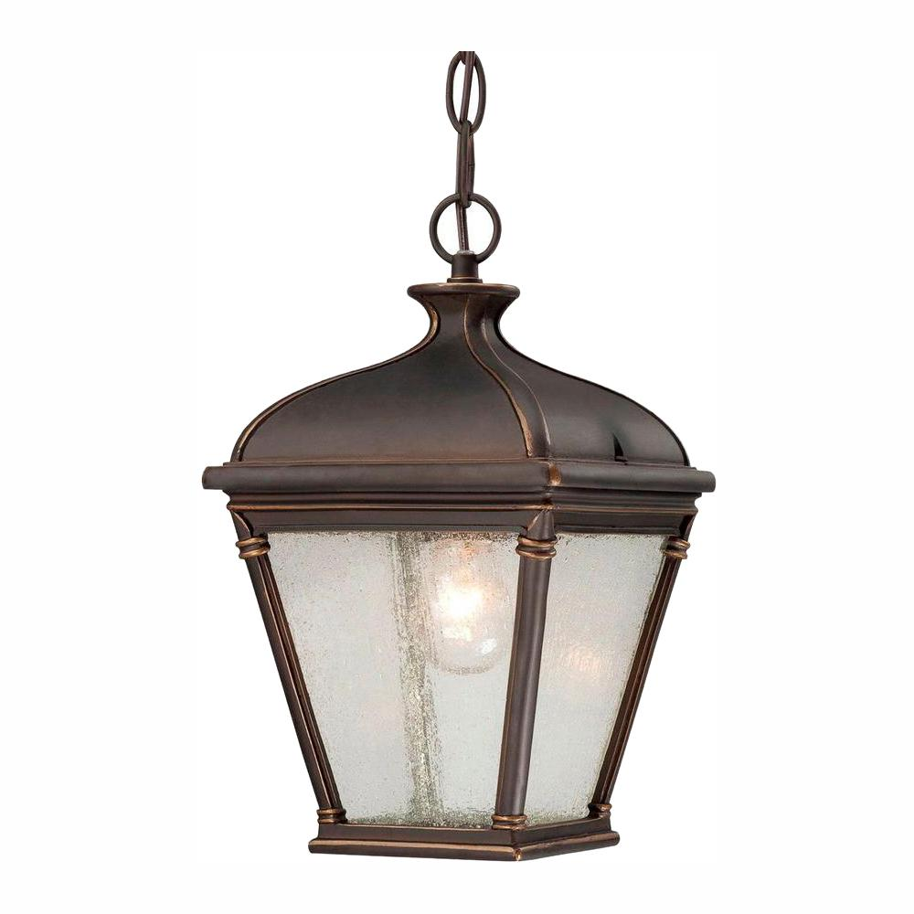 Hampton Bay Malford Dark Rubbed Bronze Outdoor Hanging Lantern