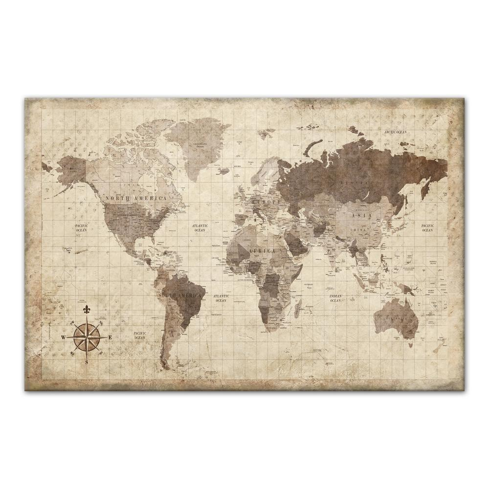 Designs direct 24 in x 36 in distressed world map printed distressed world map gumiabroncs Images