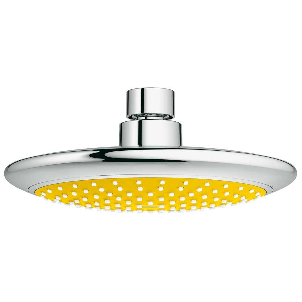 GROHE Rainshower Solo Yellow 1-Spray 7.5 in. Showerhead in StarLight ...