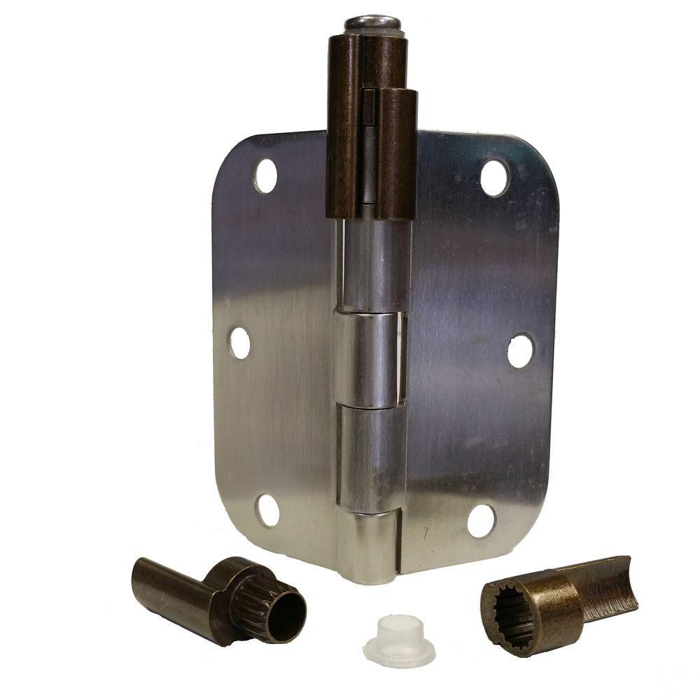 Antique Brass Adjustable Bumper-Less Hinge Pin Door Stop Door Saver Catches