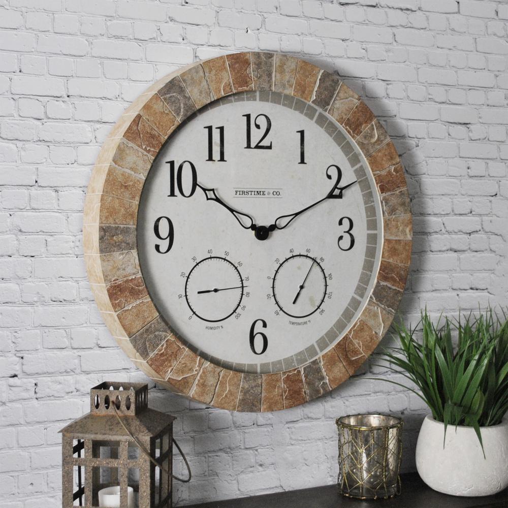18 in. Sandstone Outdoor Clock