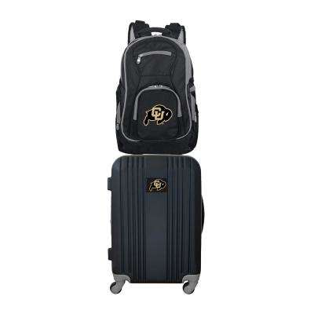 NCAA Colorado Buffaloes 2-Piece Set Luggage and Backpack