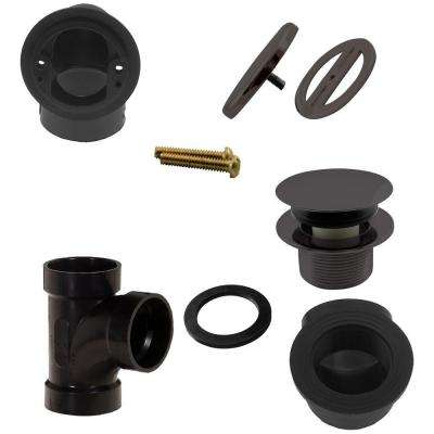 Illusionary Overflow, Sch. 40 ABS Plumbers Pack with Tip-Toe Bath Drain in Oil Rubbed Bronze