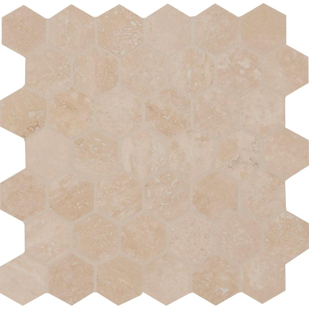 Msi colisseum hexagon 12 in x 12 in x 10 mm honed and for 10 x 10 sq ft