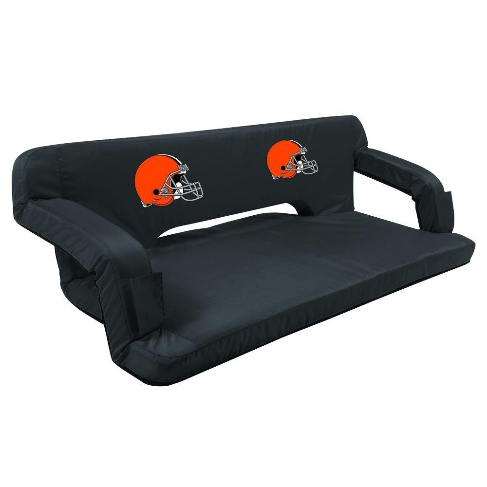 Picnic Time Cleveland Browns Black Reflex Travel Couch