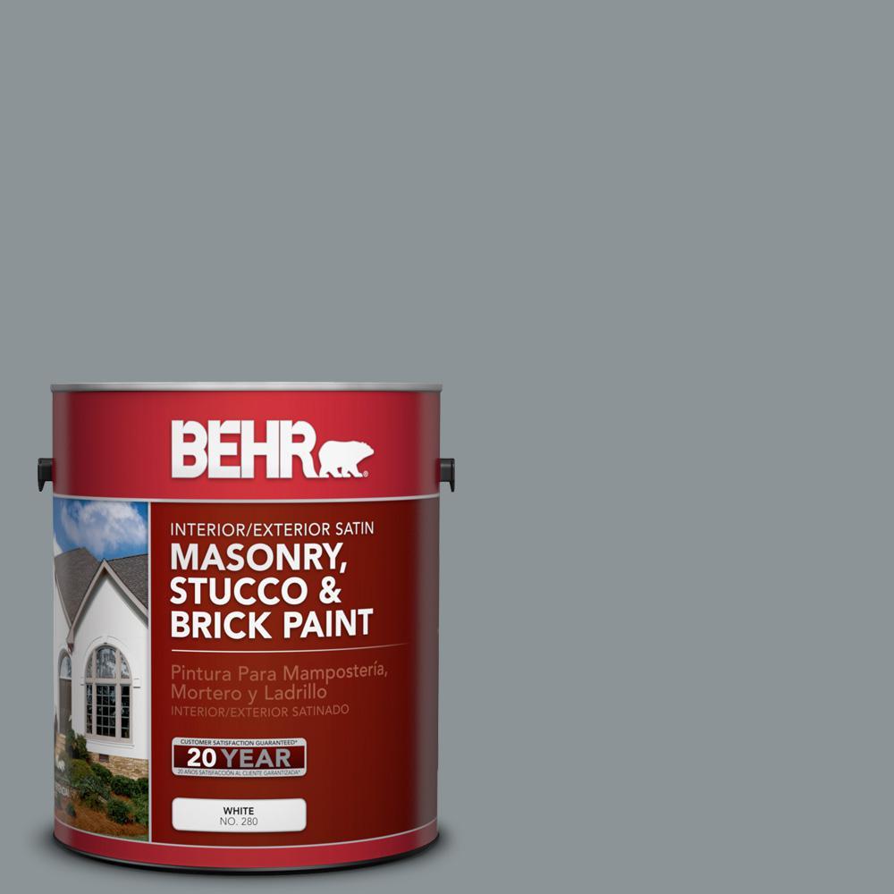 1 gal. #N450-4 Moonquake Satin Interior/Exterior Masonry, Stucco and Brick Paint