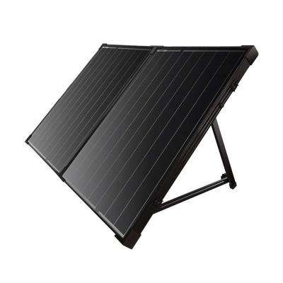 100-Watt Monocrystalline Solar Panel without Charge Controller and Foldable Suitcase Kit