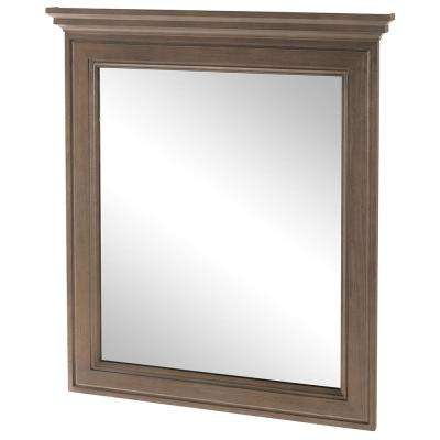 Albright 30 in. W x 34 in. H Framed Wall Mirror in Winter Gray