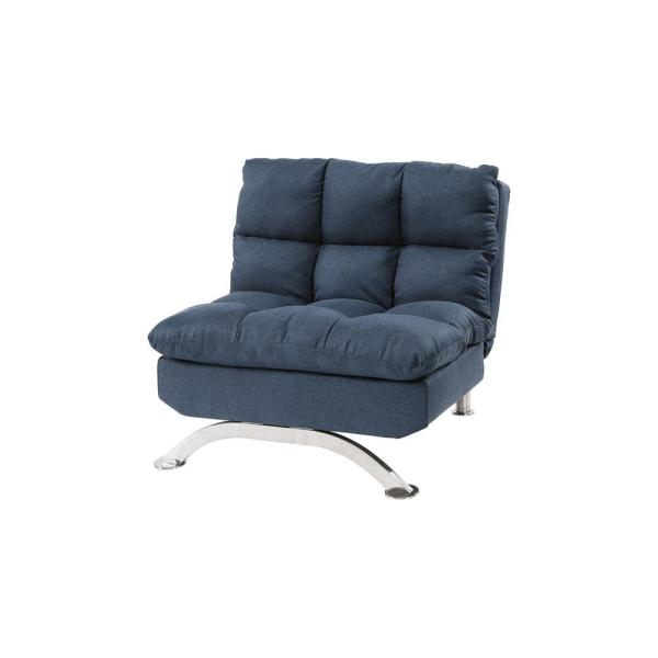 Furniture of America Radfield Blue Upholstered Chair IDF-2906BL-CH