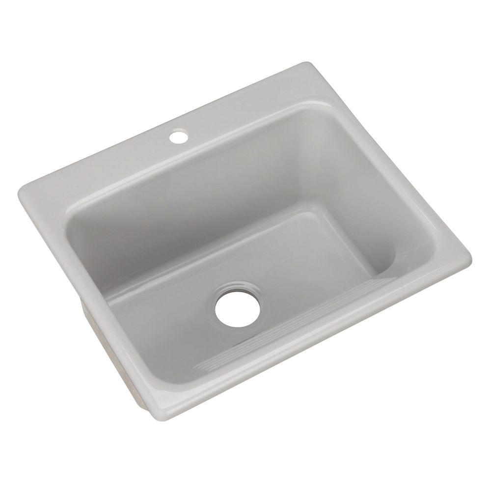 Kensington Drop-In Acrylic 25 in. 1-Hole Single Bowl Utility Sink in