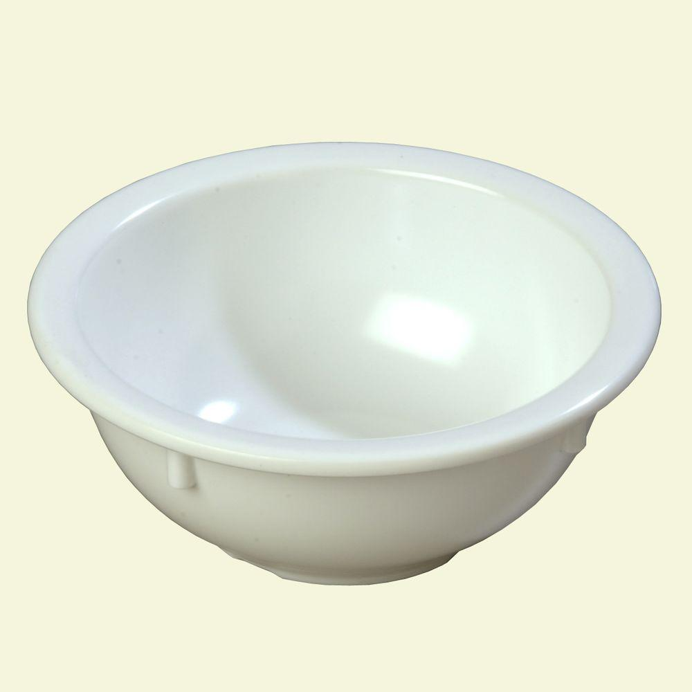 14 oz. Melamine Rimmed Nappy Bowl in White (Case of 24)