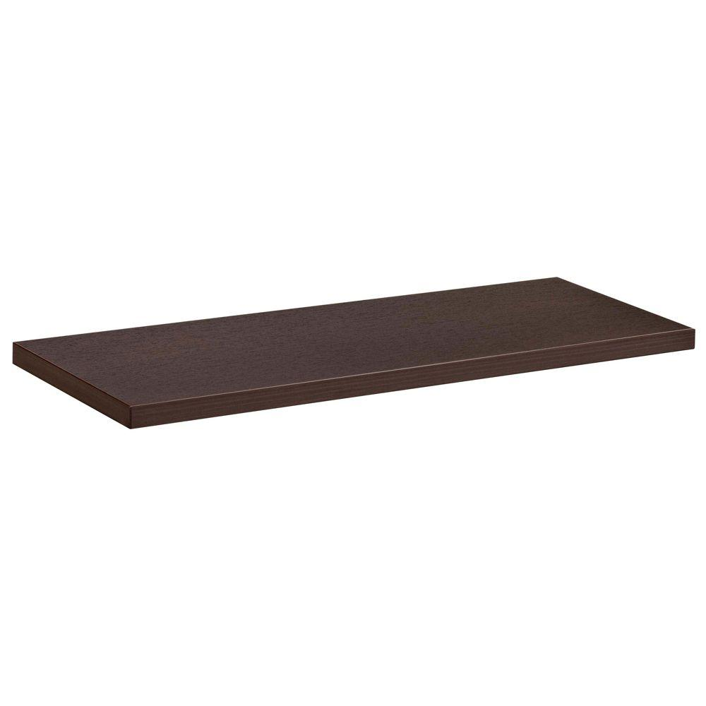 Dolle 23-1/2 in. L x 8 in. D Lite Shelf in Espresso