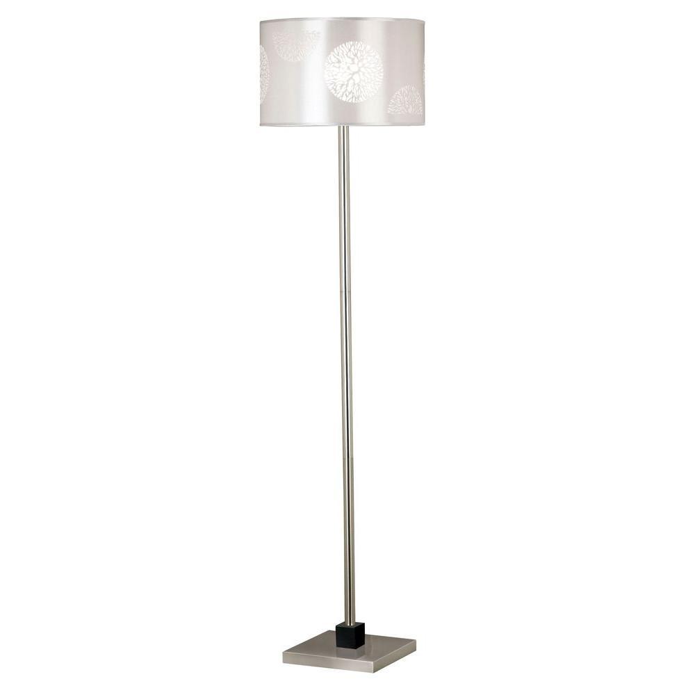 Brushed Steel Floor Lamp