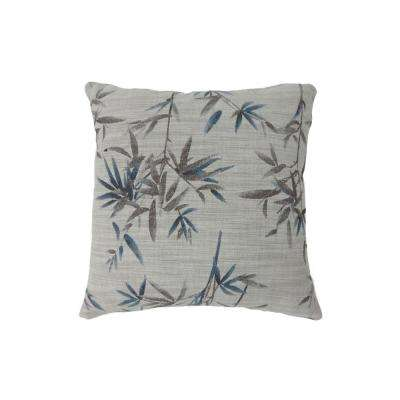Anika 22 in. Contemporary Standard Throw Pillow in Blue