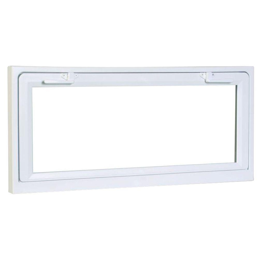 American Craftsman 31.75 in. x 18.75 in. 50 Series Hopper Basement Vinyl Window