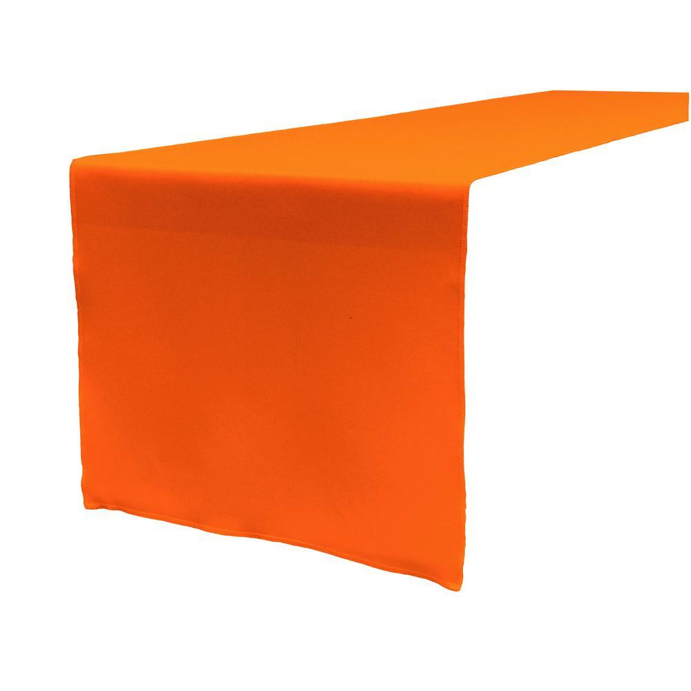 14 in. x 108 in. Orange Polyester Poplin Table Runner