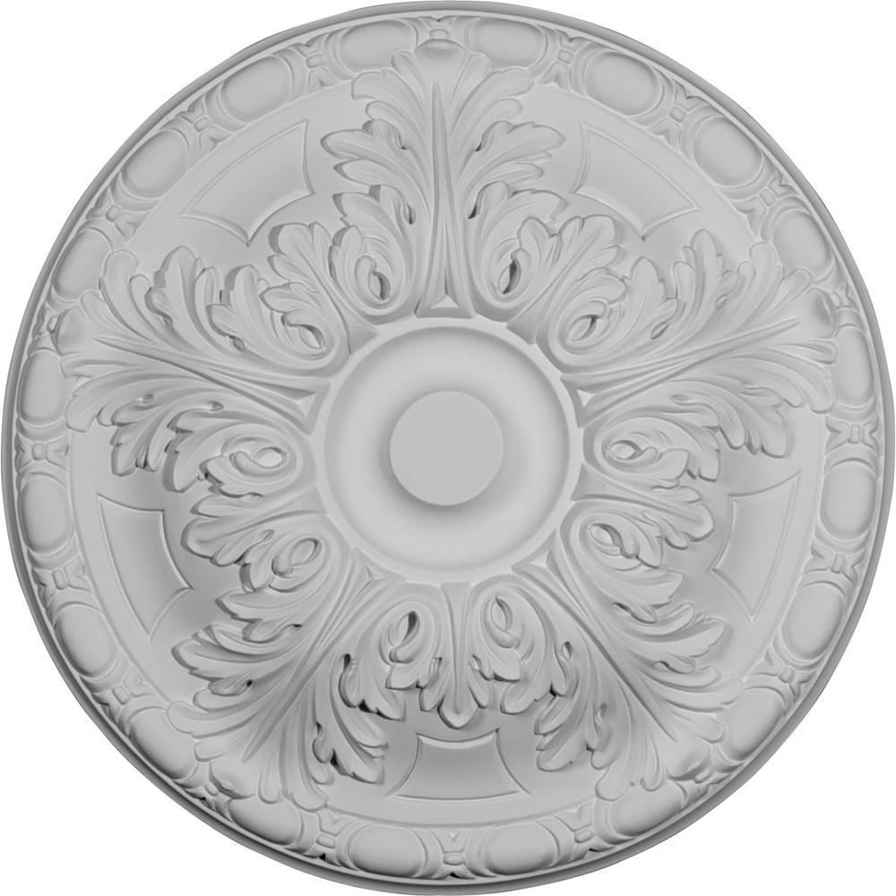 Ekena Millwork 15 3 4 In X 5 8 In Granada Urethane Ceiling Medallion Fits Canopies Upto 4 1 4 In Primed Cm16ga The Home Depot