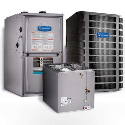 Signature 2 Ton 16 SEER Upflow 95% AFUE 45,000 BTU Complete Split System Air Conditioner with Gas Furnace