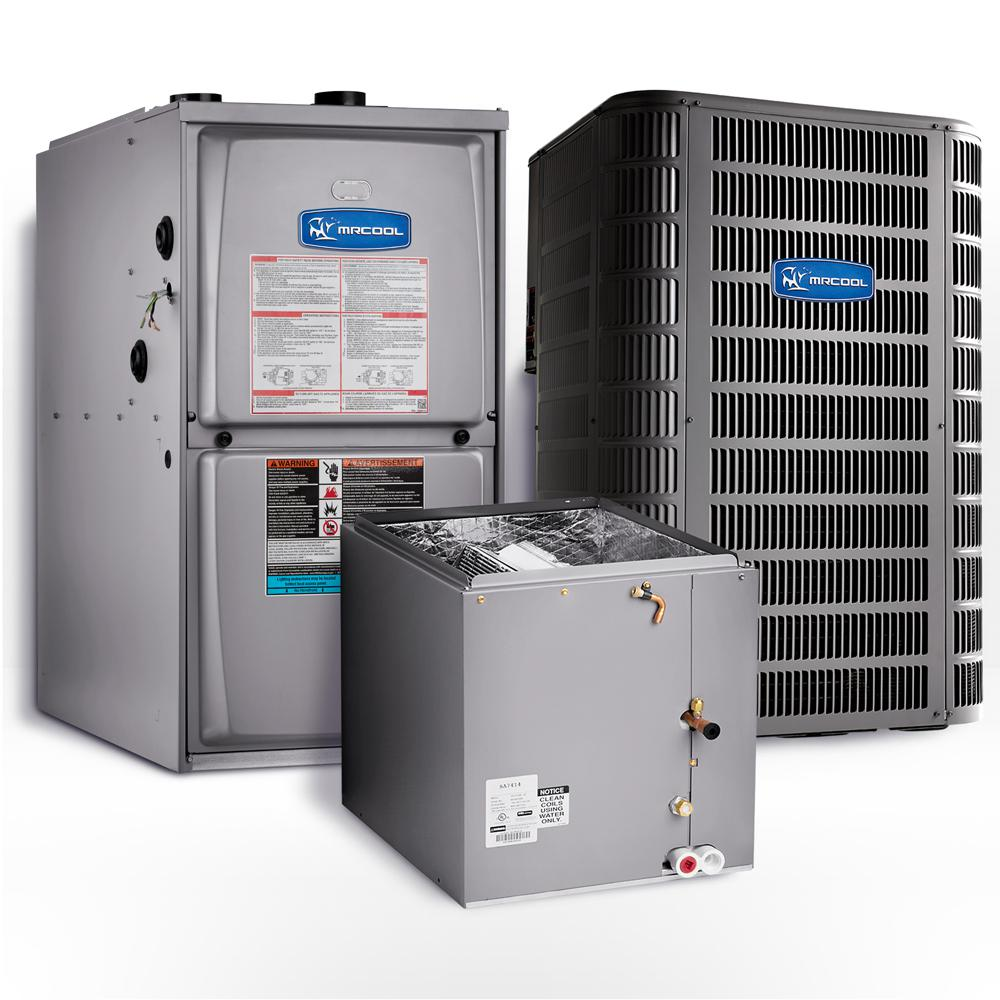 MRCOOL Signature 4-Ton 46,500-BTU 15.1 SEER Upflow Complete Split System Air Conditioner with 95% AFUE Gas Furnace