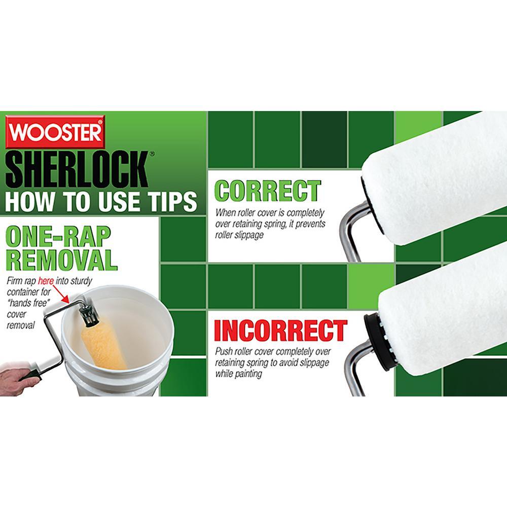 Wooster Brush R017-9 Sherlock Roller Frame Pack of 6