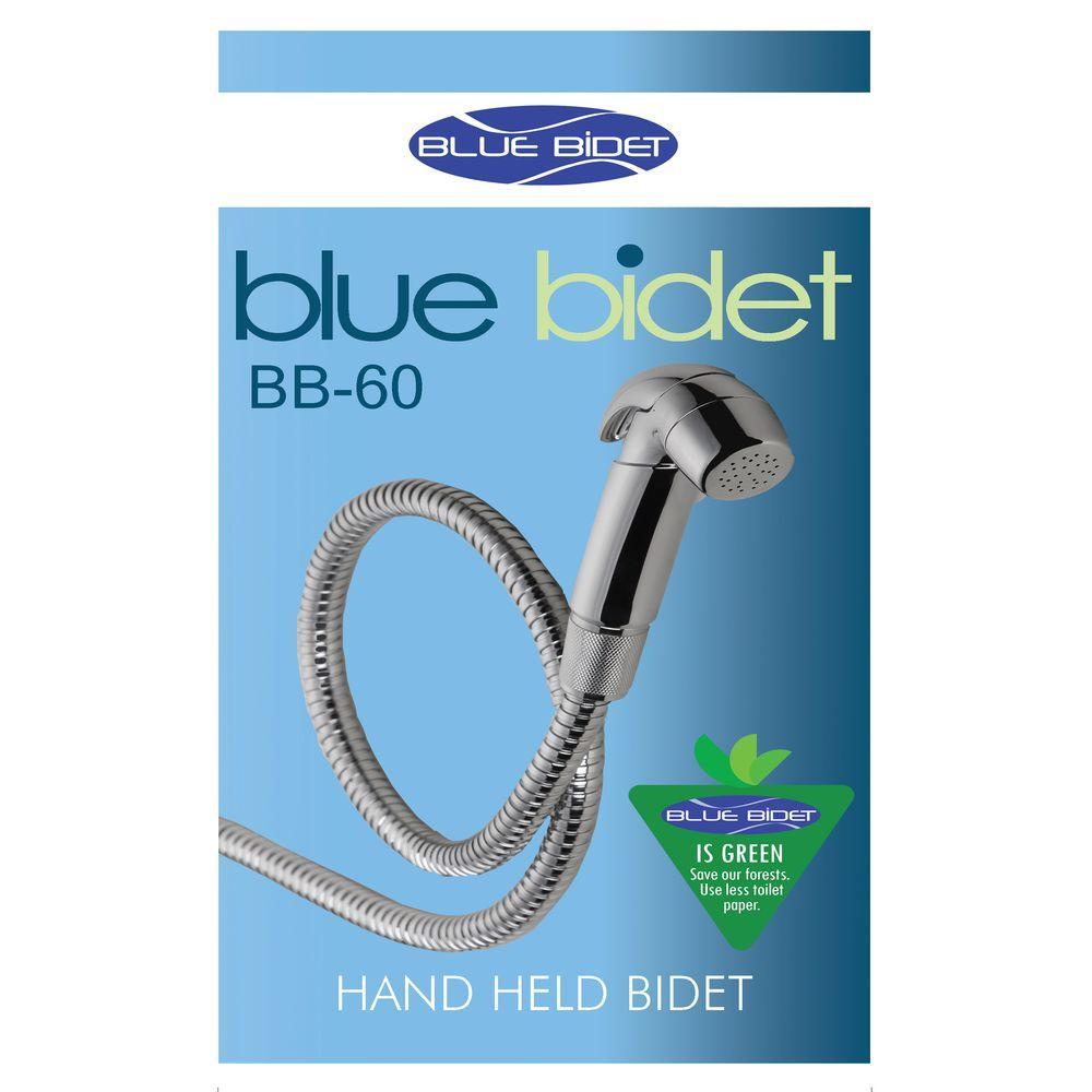Blue Bidet Hand Held Bidet in Silver Metalic