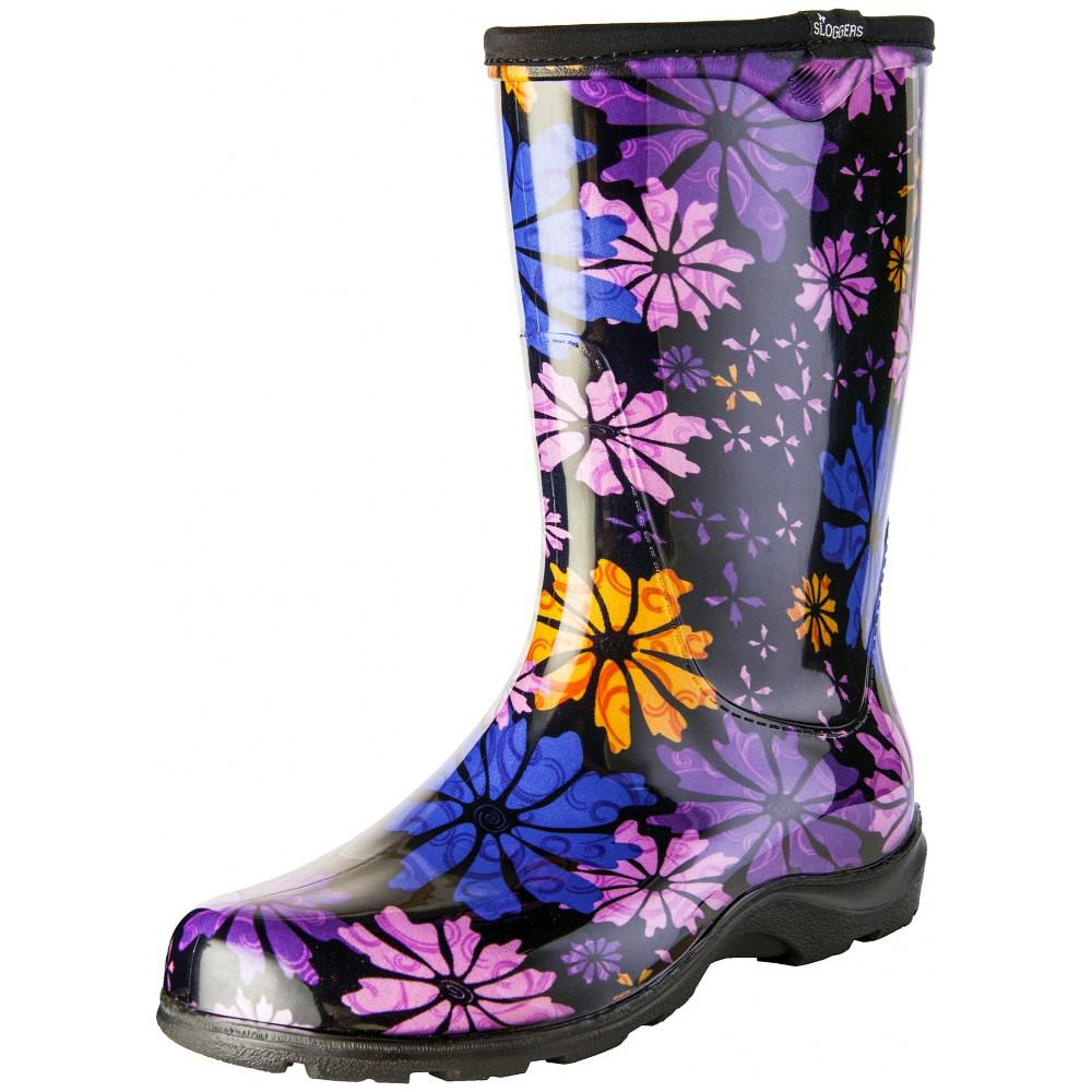 Womens Flower Print Rain