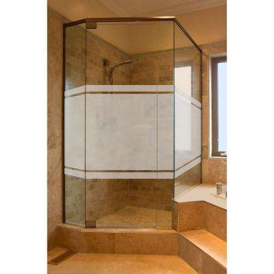 36 in. x 72 in. Etched Glass Decorative Window Film