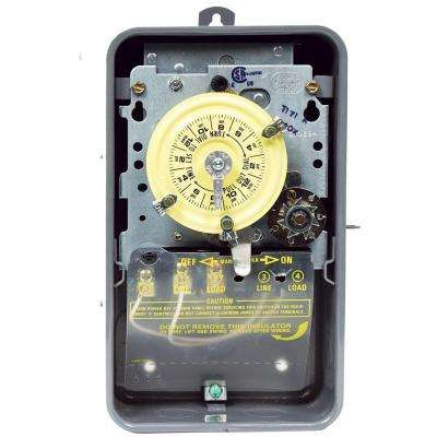 T170 Series 40 Amp 24-Hour Mechanical Time Switch with Skipper and Outdoor Enclosure - Gray