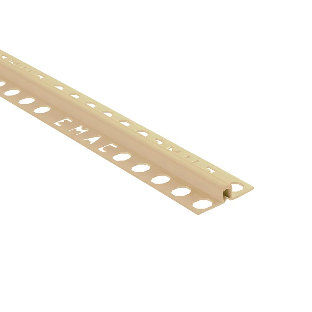 Novojunta 2 Beige 3/8 in. x 98-1/2 in. PVC Tile Edging