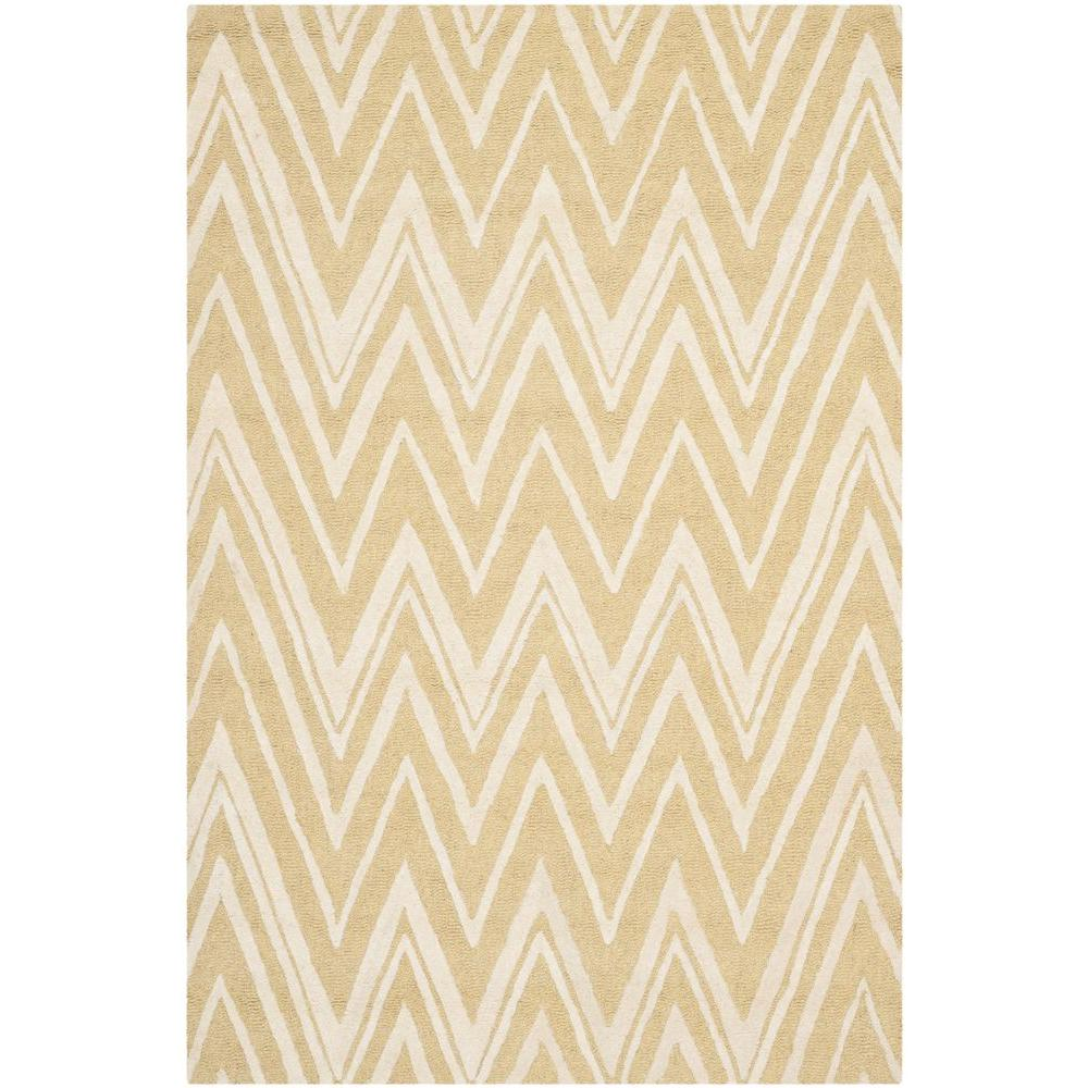 Cambridge Light Gold/Ivory 4 ft. x 6 ft. Area Rug
