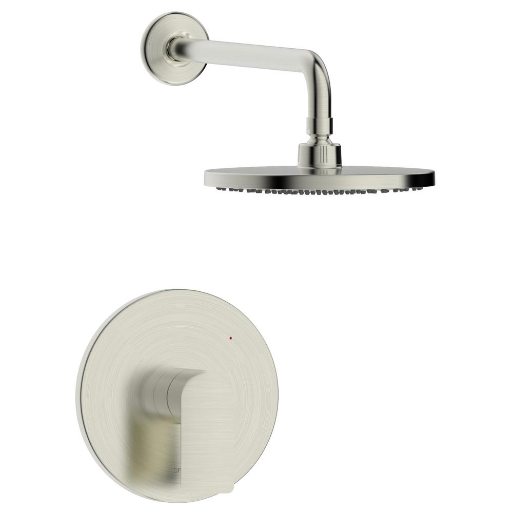 Fontaine by Italia Pont Neuf Single Handle 1-Spray Round Shower Faucet in Brushed Nickel Valve Included