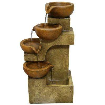 17 in. Tiering Pots Tabletop Fountain