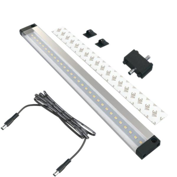 12 in. LED 6000K Black Under Cabinet Light NO Sensor (No Power Supply Included)